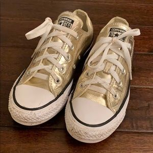 Gold Converse All-Star ⭐️ Shoes Men's 4, Women's 6
